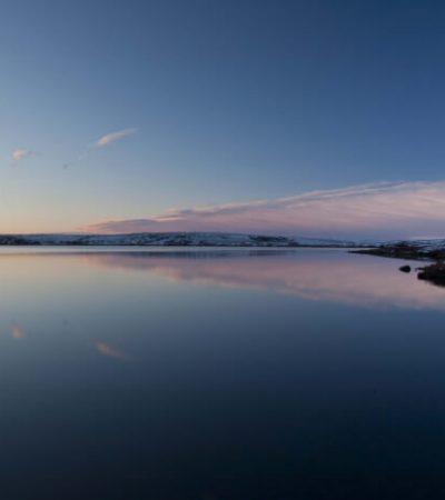 32 arctic lake sunset