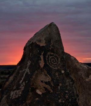 6 Hohokam sunset glyph, AZ
