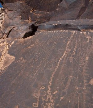 8 petroglyph panel spanning 2000 years, AZ well
