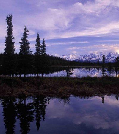 Alaska Range reflection