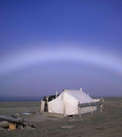Fogbow (Arctic coast)